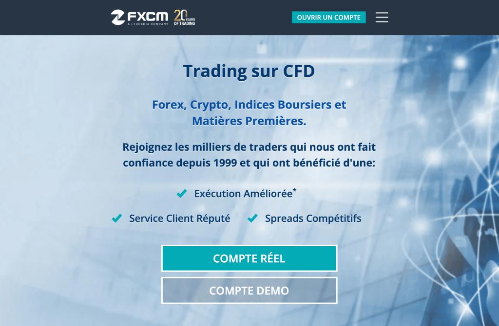 Trader débutant FXCM